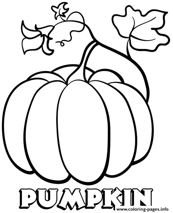 Vegetable Pumpkin Coloring Pages Printable