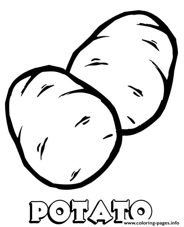 Vegetable Potato Coloring Pages