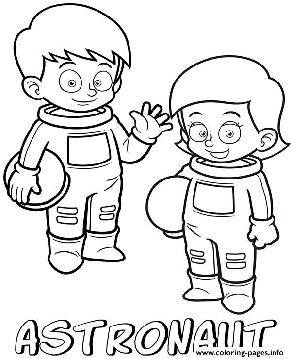 Professions Astronauts Coloring Pages Printable