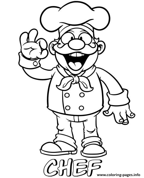 Professions Chef Coloring Pages