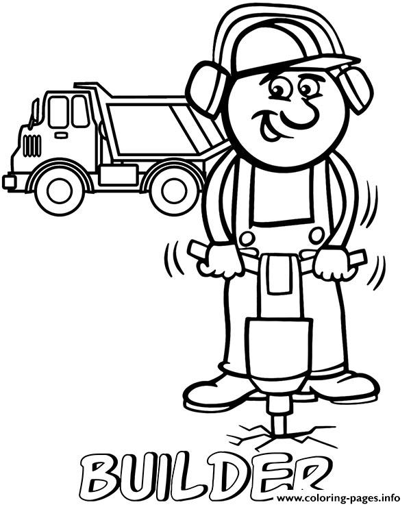 Professions Bulder Coloring Pages