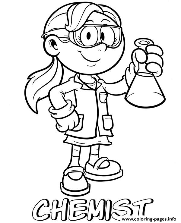 Professions Chemist Coloring Pages