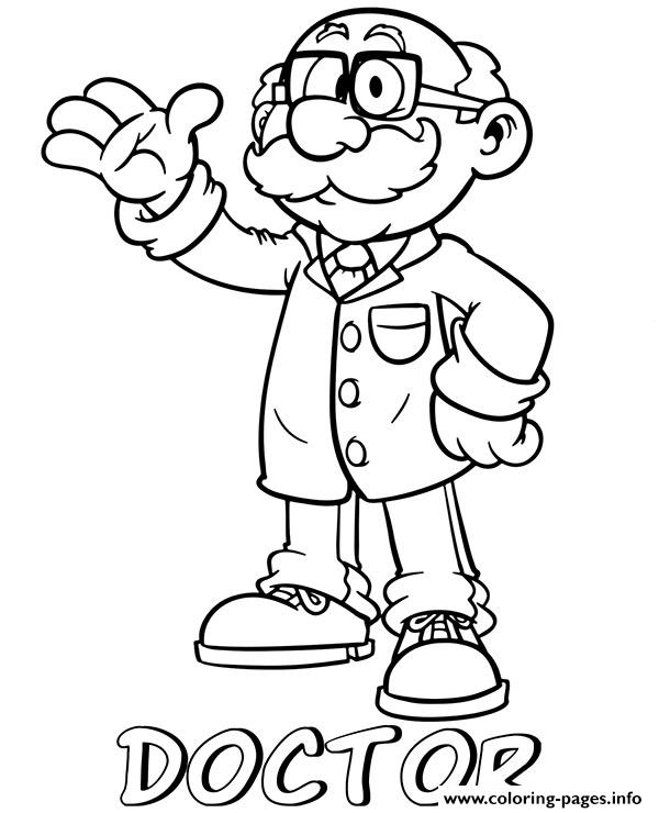 Professions Doctor Coloring Pages