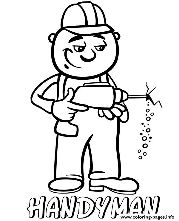 Professions Handyman Coloring Pages