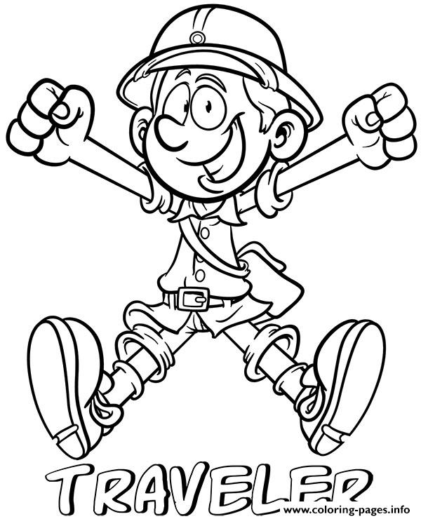 Professions Traveler Coloring Pages