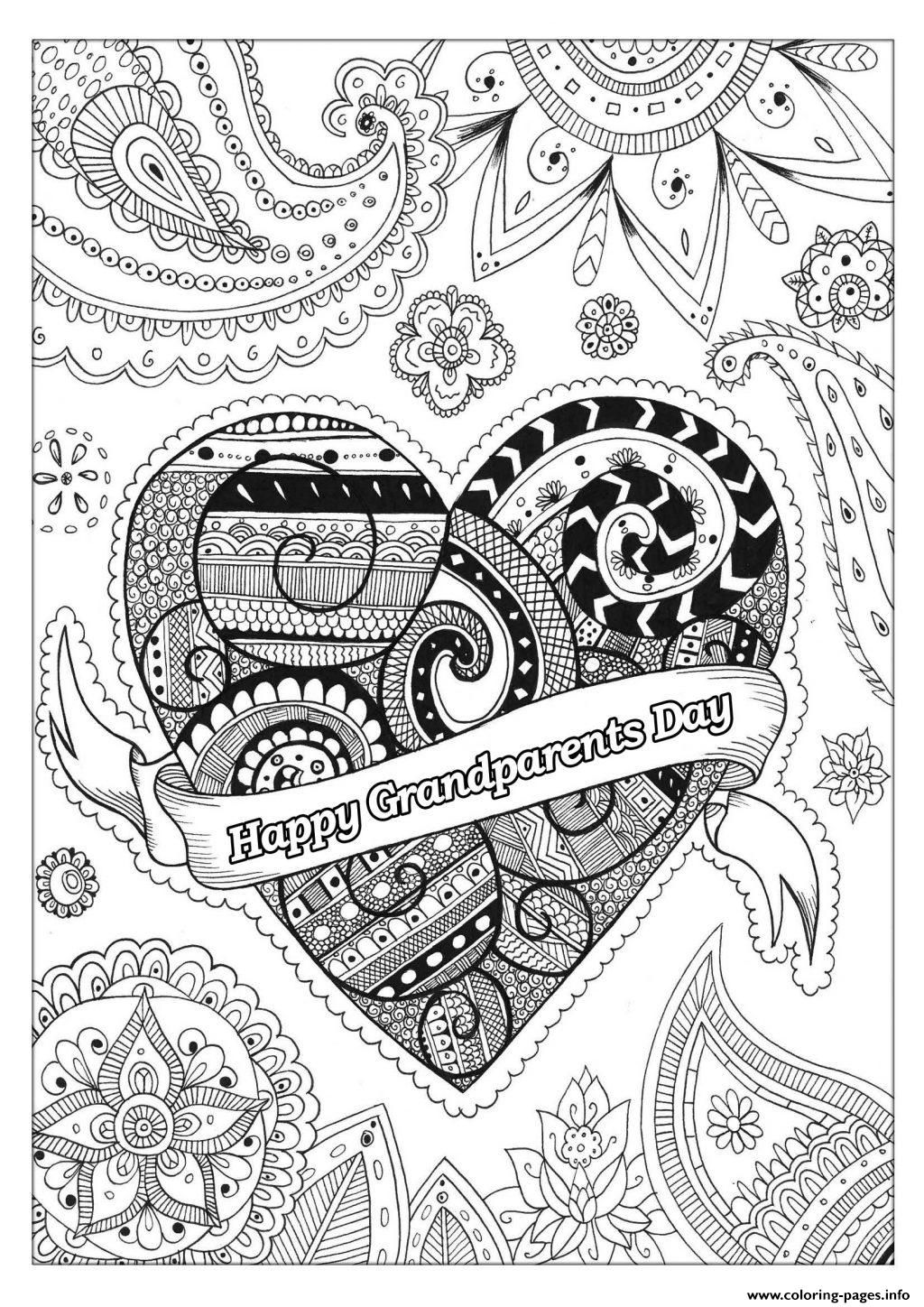 - Grandparents Day Incredible Adult Coloring Pages Printable