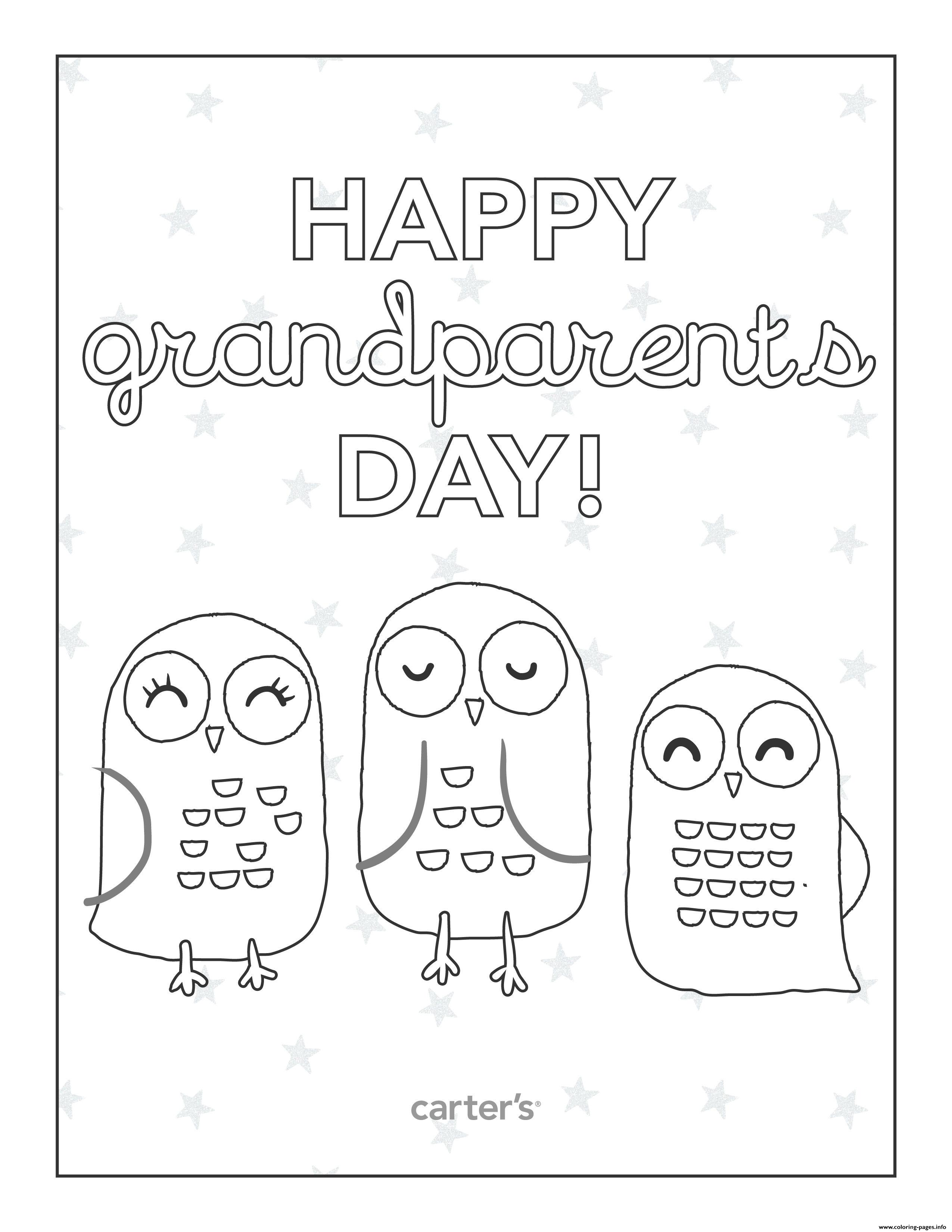 Birds Happy Grandparents Day Fun Coloring Pages Printable