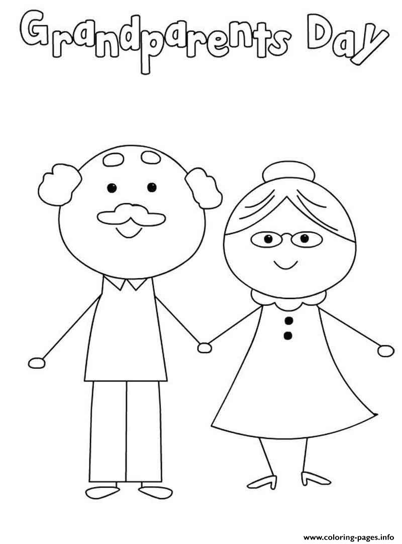 - Happy Grandparents Day Cute Simple Coloring Pages Printable
