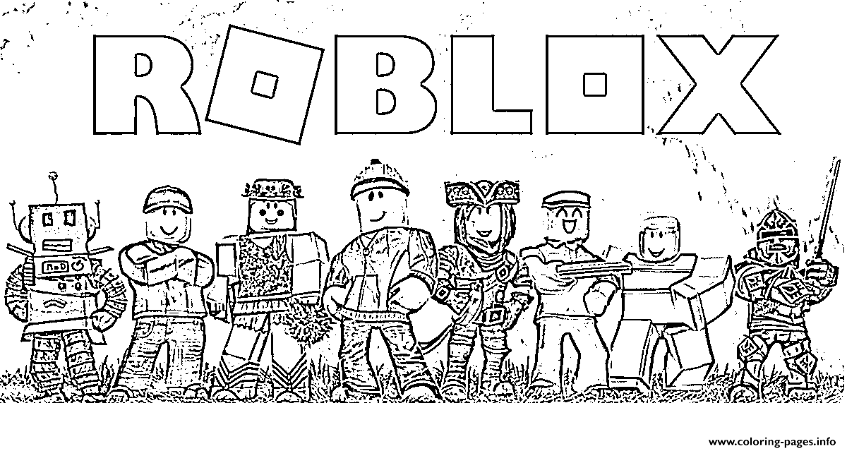 Roblox Team Coloring Pages Printable