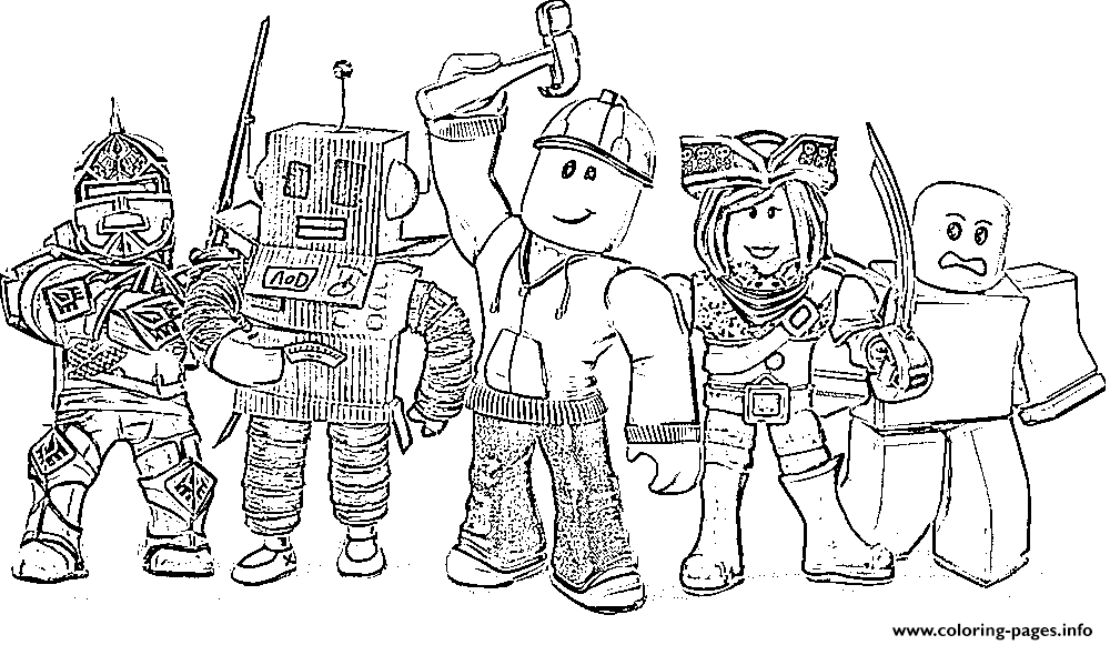 Roblox Spot HarperCollins coloring pages