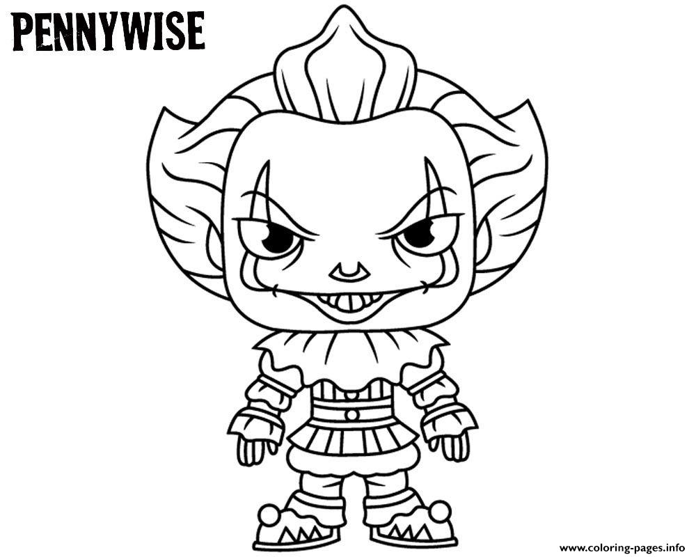 Cute Pennywise coloring pages