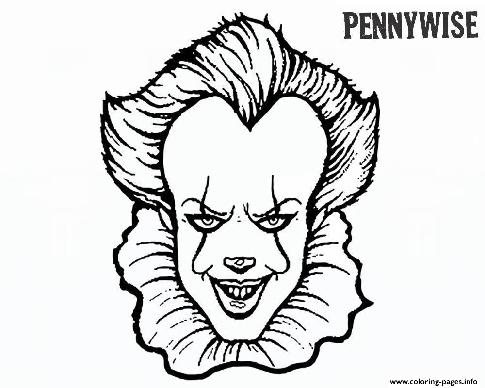 It Movie Pennywise Coloring Pages Printable
