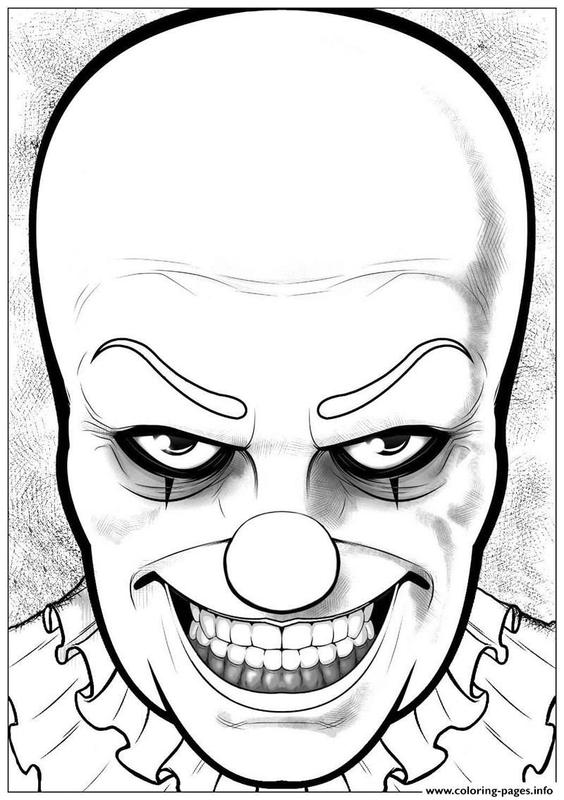 Pennywise By Jeffrey W Curtis Coloring Pages Printable