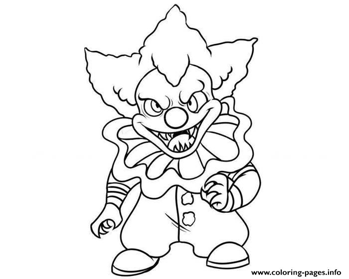 Pennywise Mini Clown coloring pages