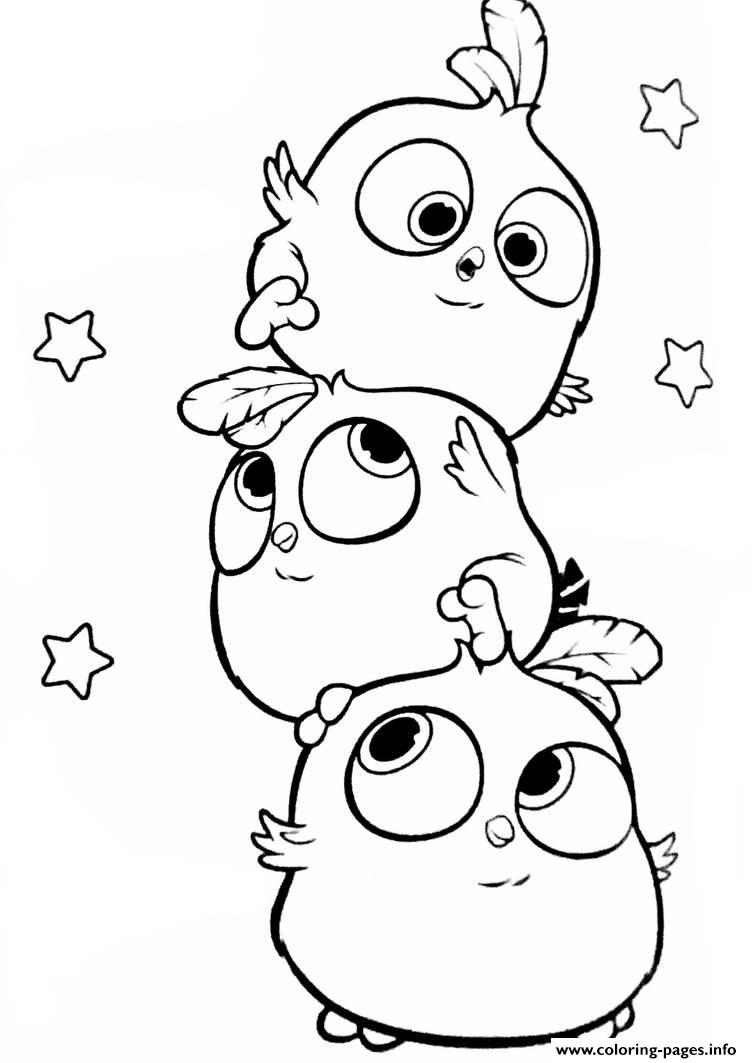 - Angry Birds Hatchlings The Blues Coloring Pages Printable