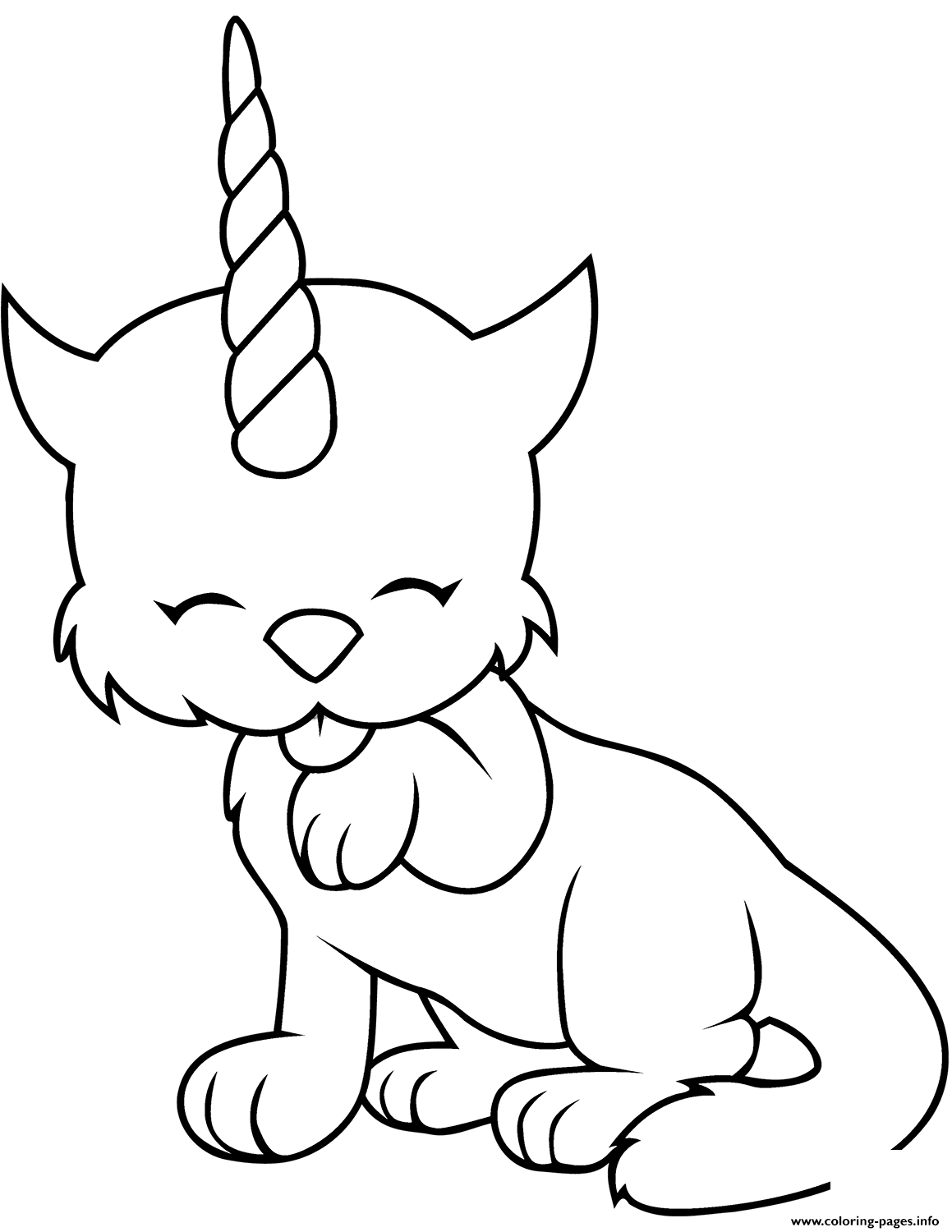Caticorn Cat Unicorn Cute coloring pages