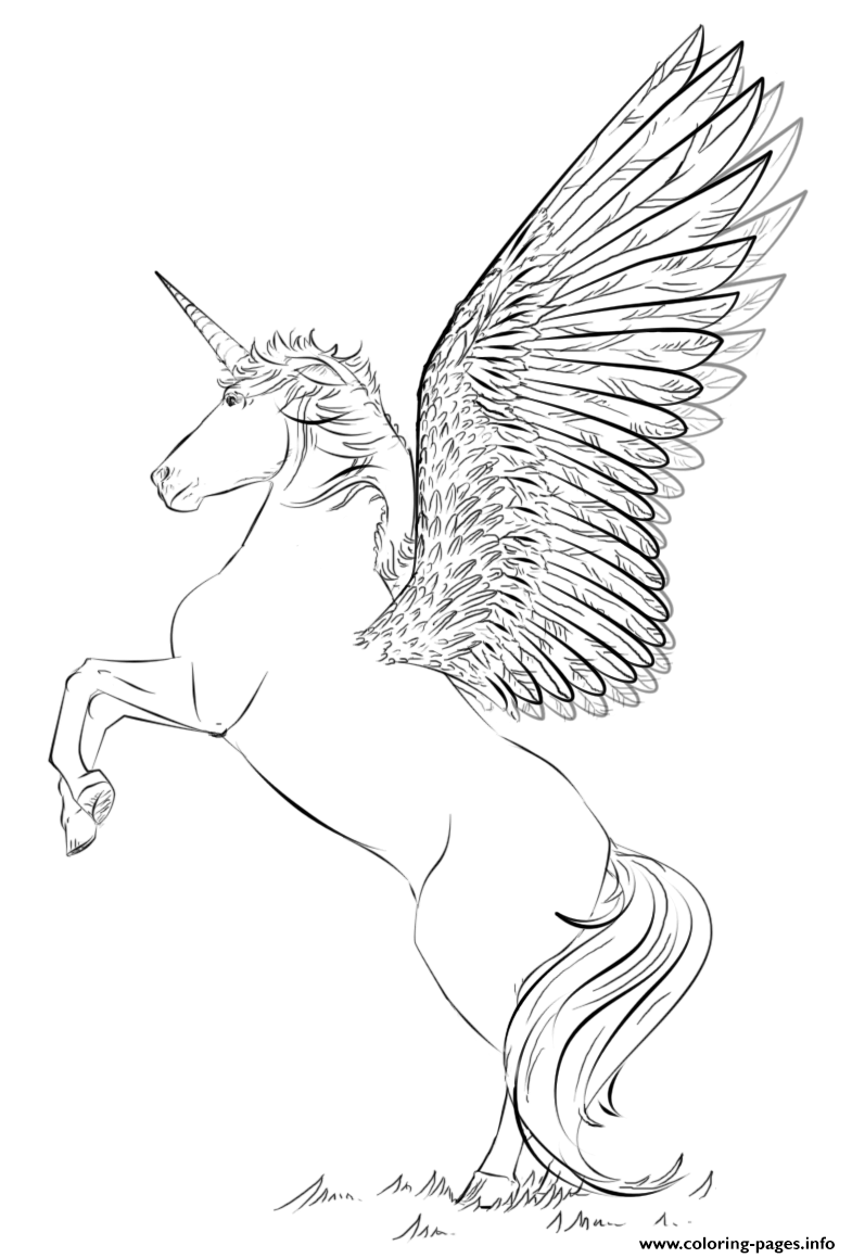 Unicorn Beautiful Wings By Lena London Coloring Pages ...