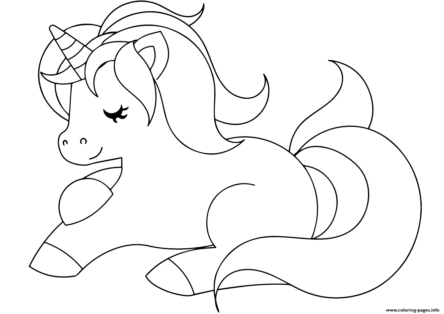 - Cute Unicorn Coloring Pages Printable