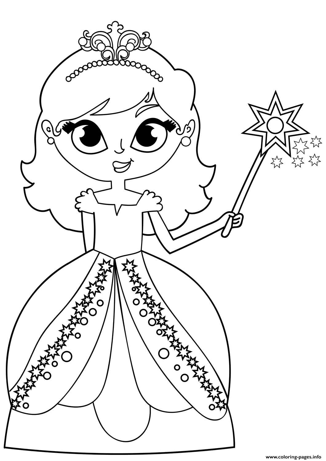 - Fairy Princess Coloring Pages Printable