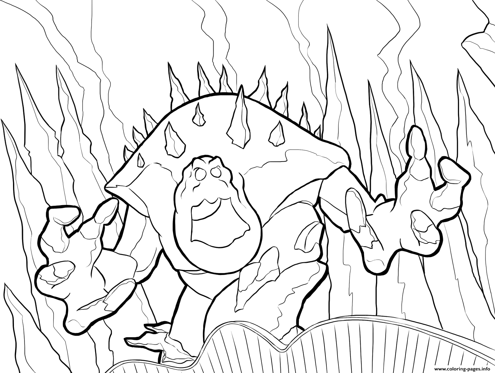 - Marshmallow The Angry Giant Ice Frozen Coloring Pages Printable