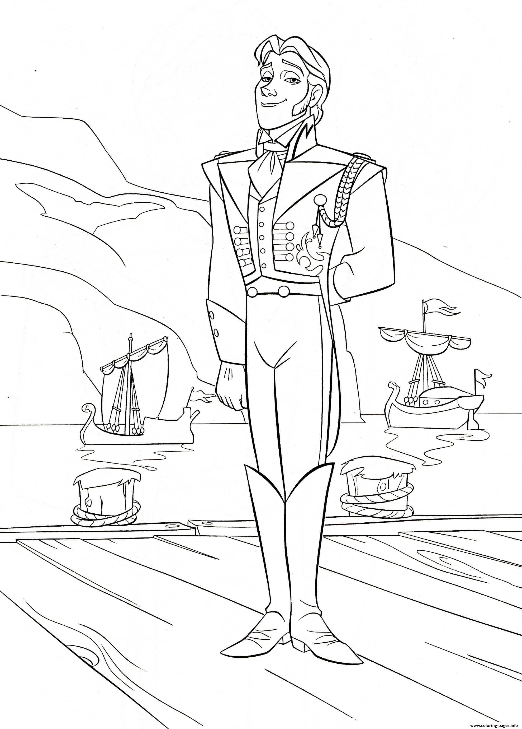 Hans Handsome Royal Neighboring Kingdom coloring pages