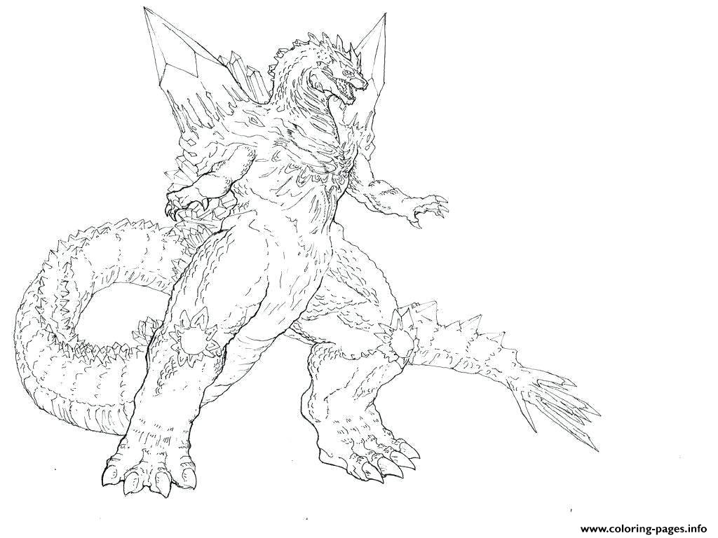Giant Godzilla Coloring Pages Printable