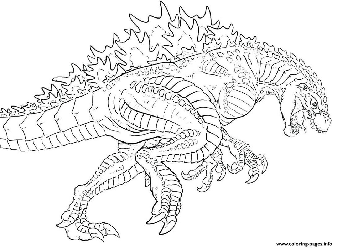 Godzilla 2000 Millennium Coloring Pages Printable