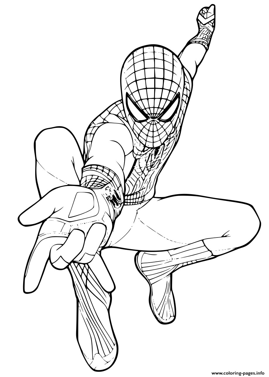 Peter Parker Is Spiderman Coloring Pages Printable