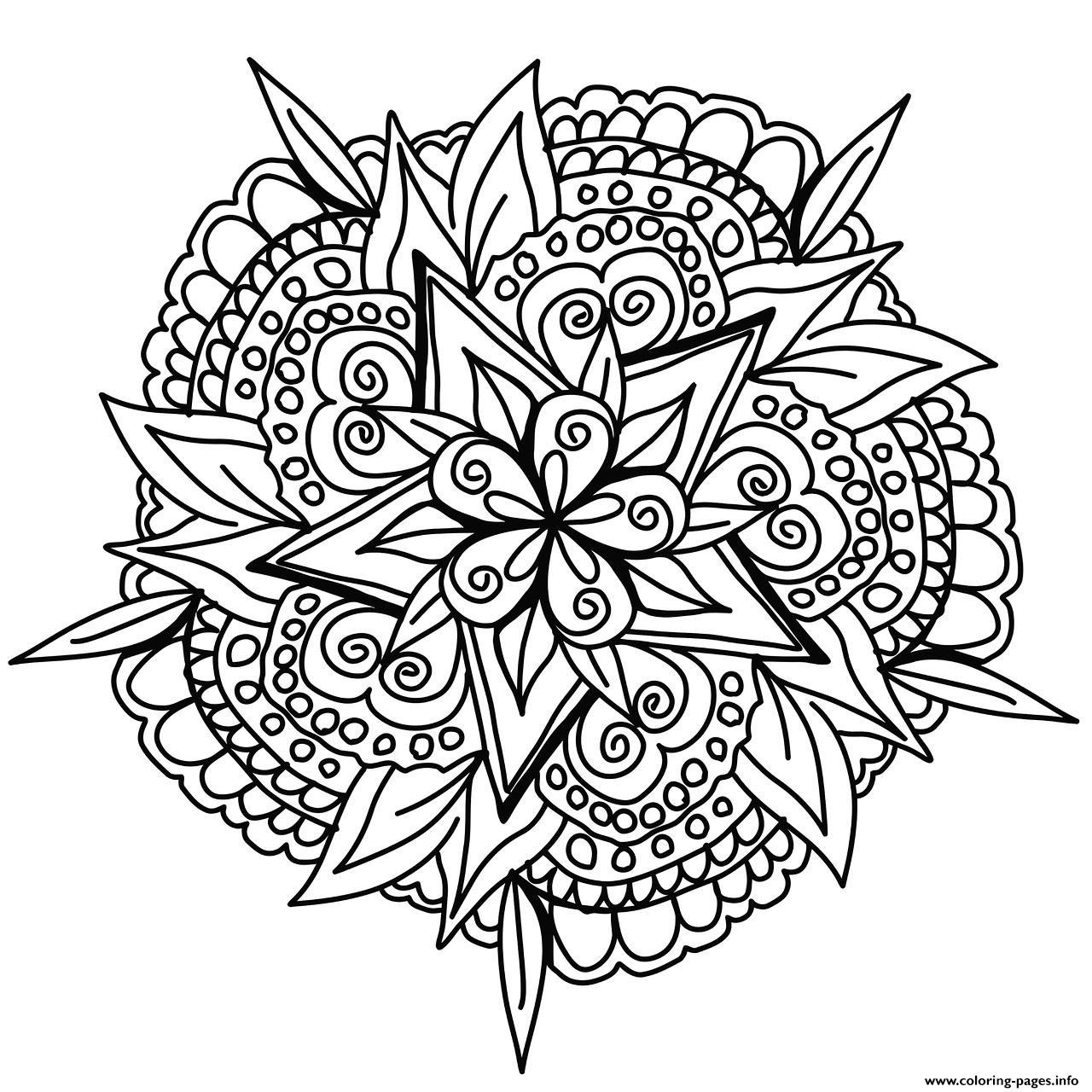 Cool Hand Drawn Mandala Coloring Pages Printable