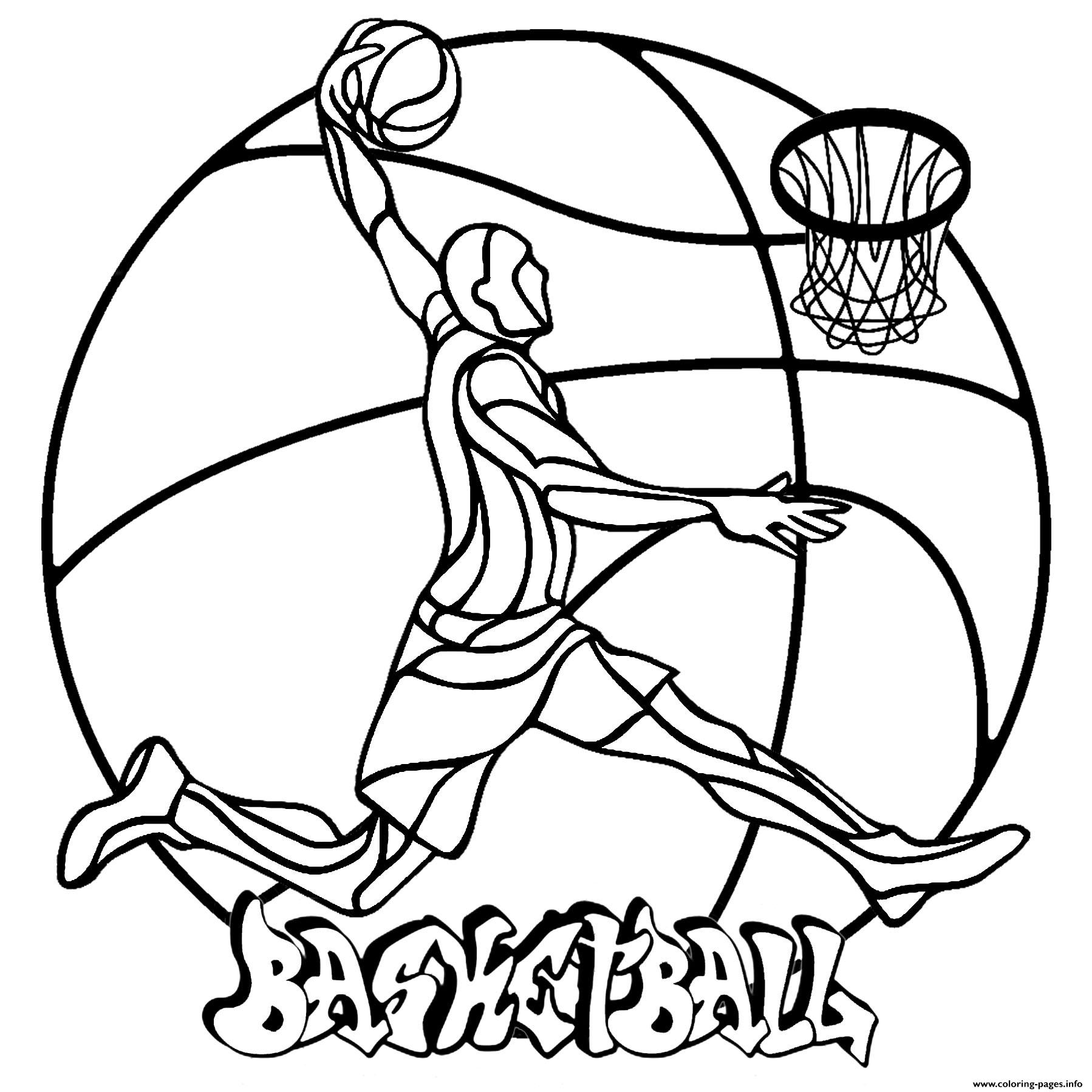 Mandala Easy Basketball coloring pages