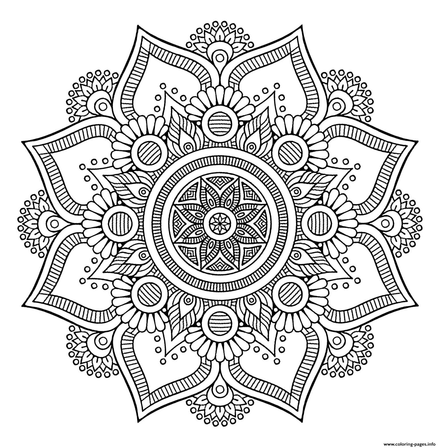 Mandala Big Flower 1 coloring pages