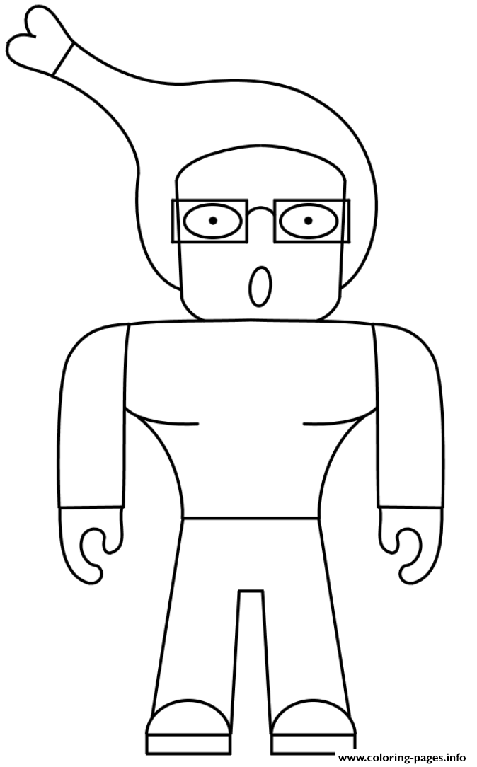 Weird Roblox Character Human Coloring Pages Printable