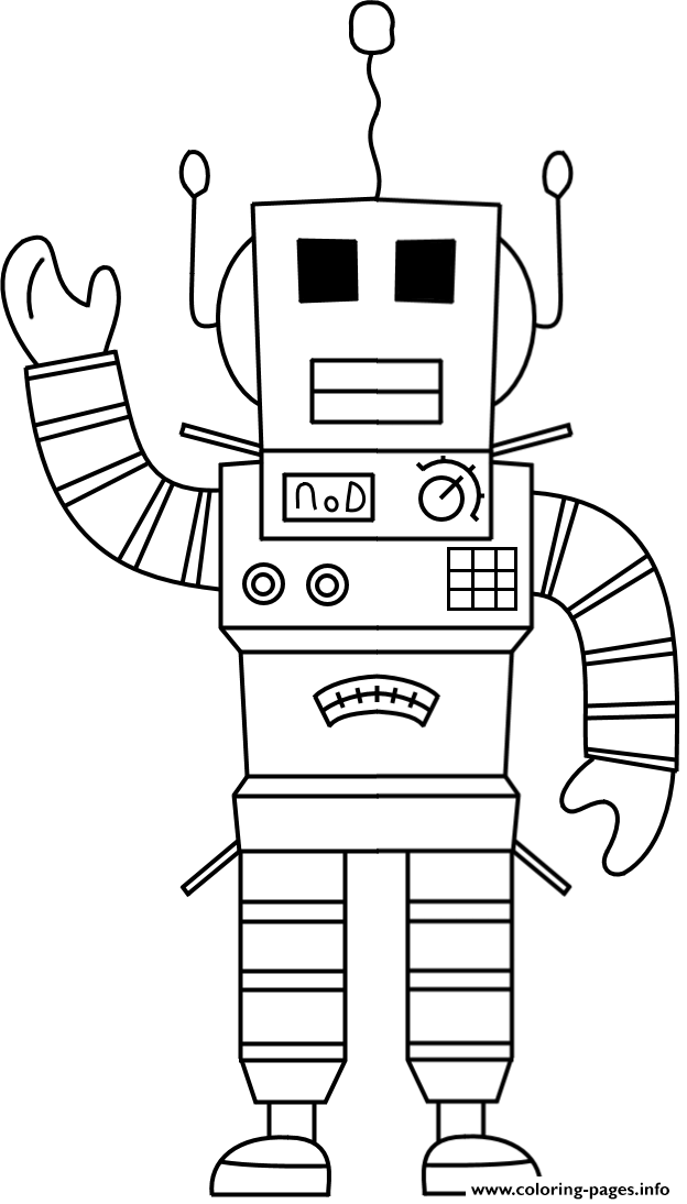 Roblox Robot coloring pages