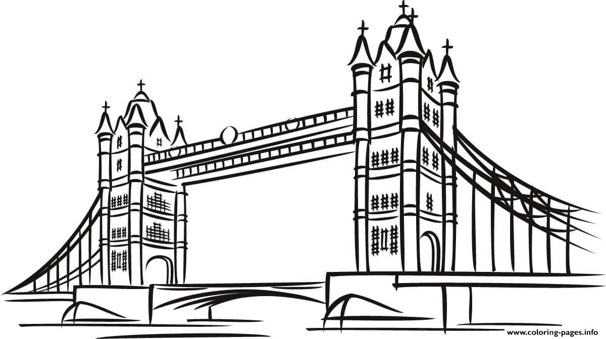 Tower Bridge In London United Kingdoms coloring pages