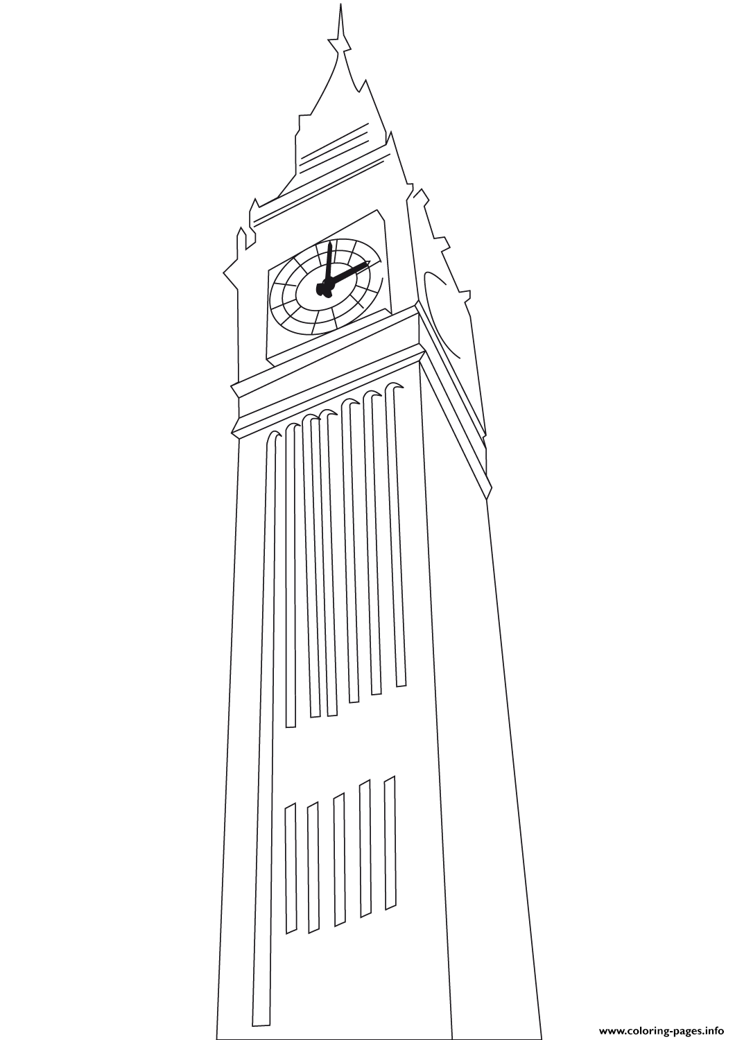 Big Ben United Kingdom coloring pages