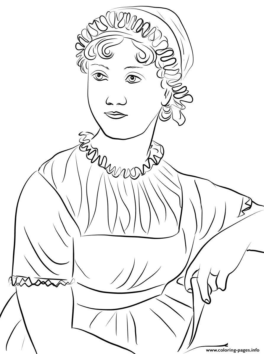 Jane Austen United Kingdom coloring pages