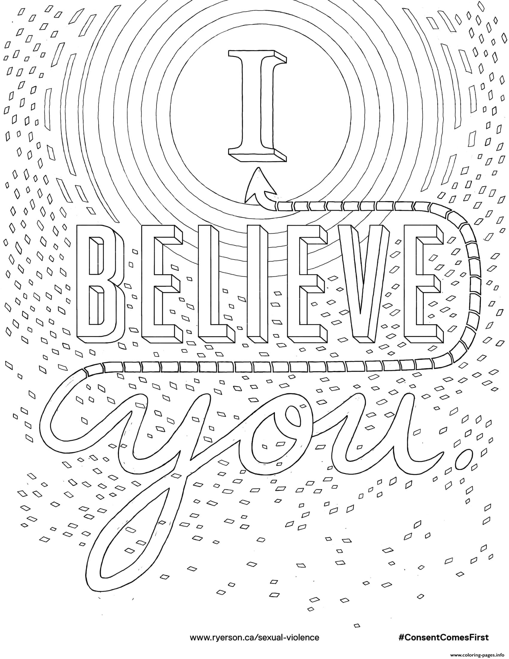 I Believe You Coloring Pages Printable