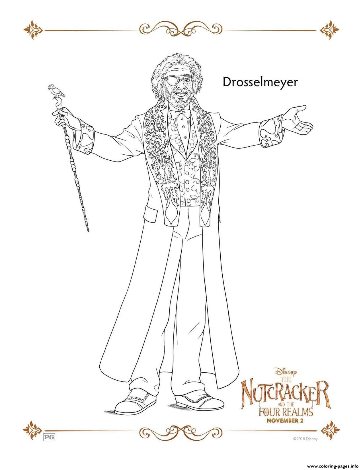 Drosselmeyer The Nutcracker coloring pages
