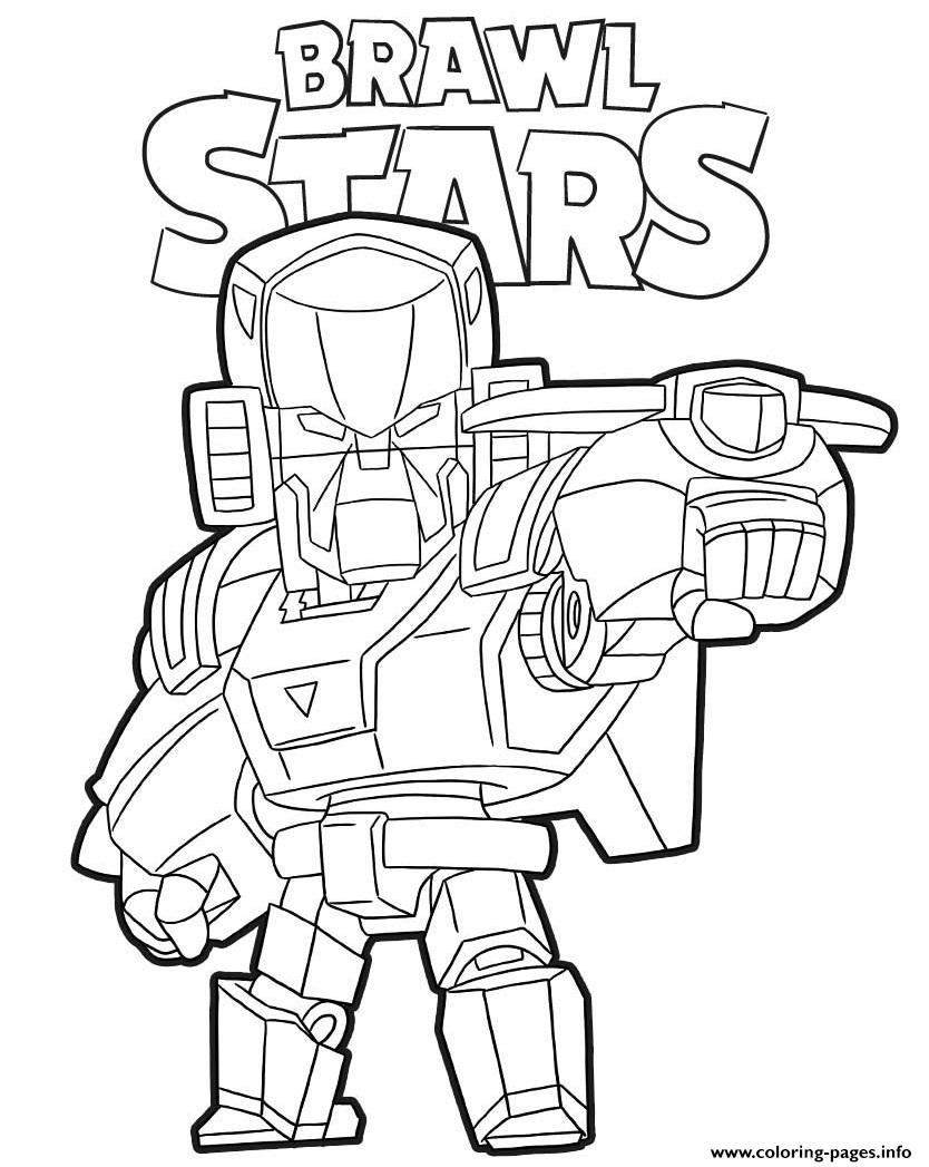 Mecha Bo Brawl Stars Game Coloring Pages Printable