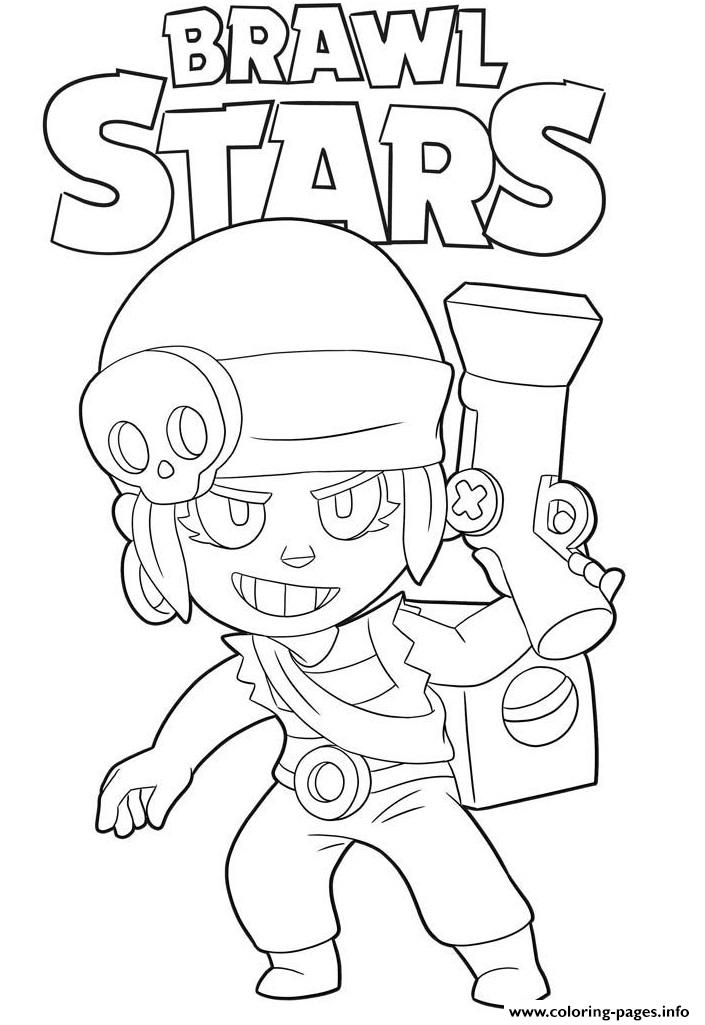 Penny Brawl Stars Coloring Pages Printable