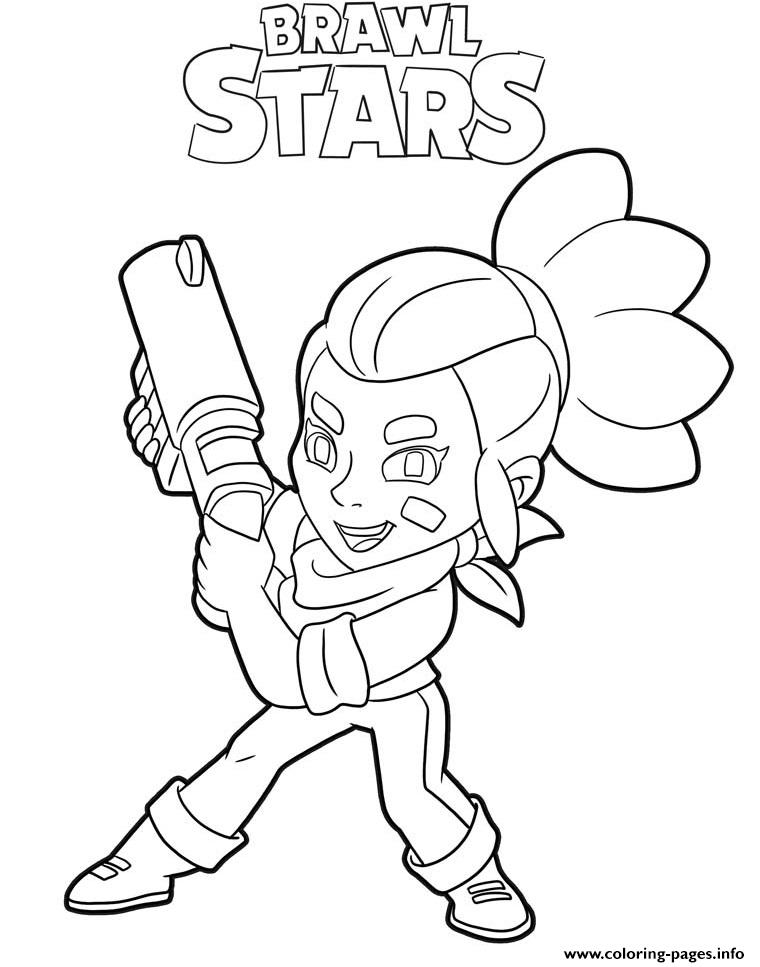 Shelly Brawl Stars Character Coloring Pages Printable