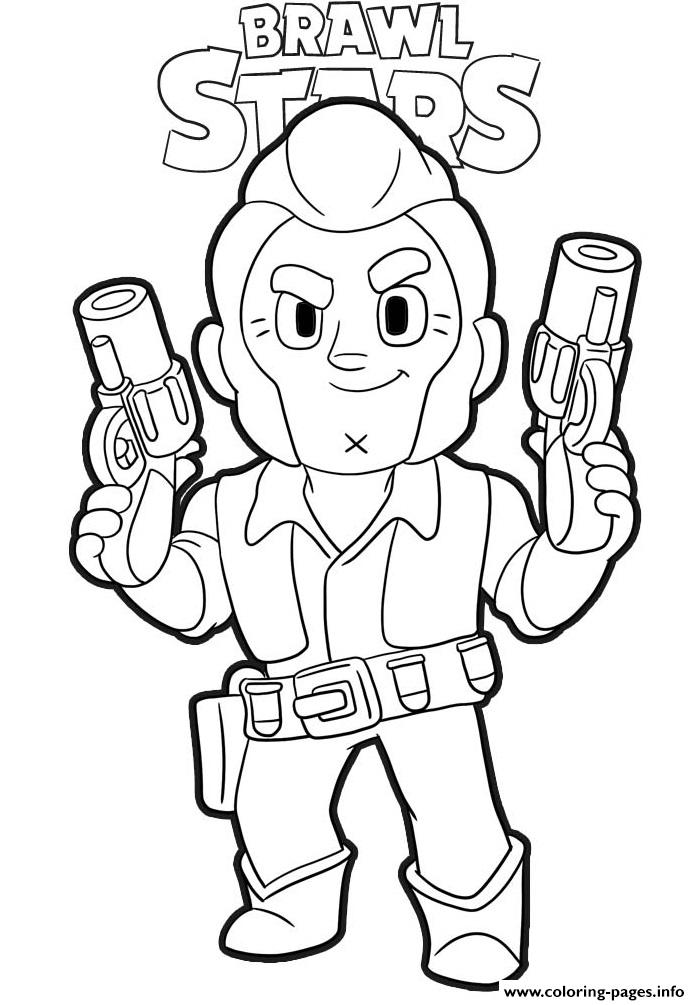 Colt Ready Brawl Stars Coloring Pages Printable