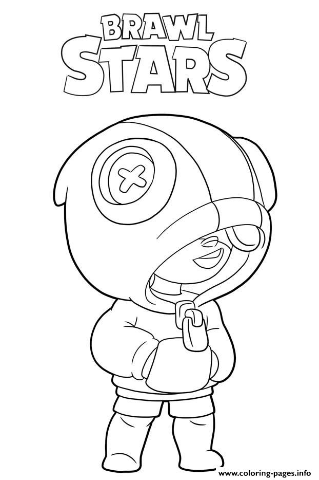 Leon Brawl Stars Coloring Pages Printable