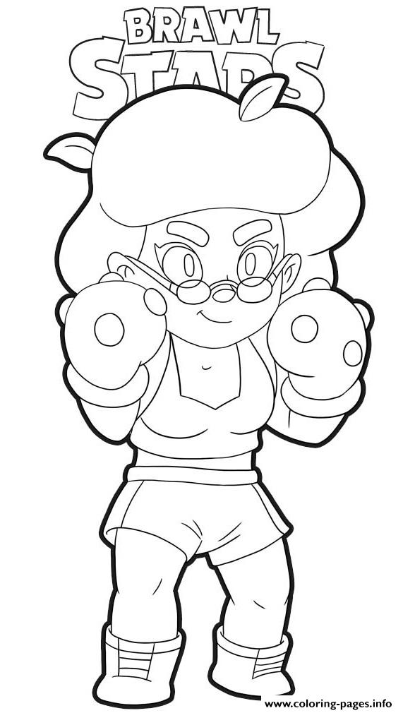Rosa Brawl Stars Coloring Pages Printable