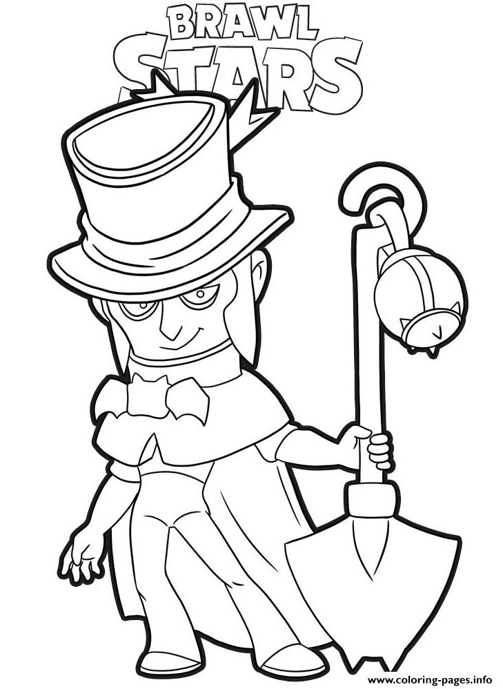 Mortis Brawl Stars Coloring Pages