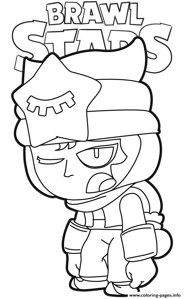 Sandy Tired Brawl Stars Coloring Pages Printable