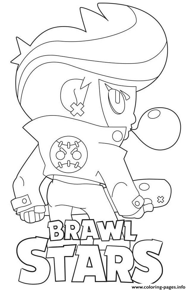 Brawl Stars Bibiback Coloring Pages Printable