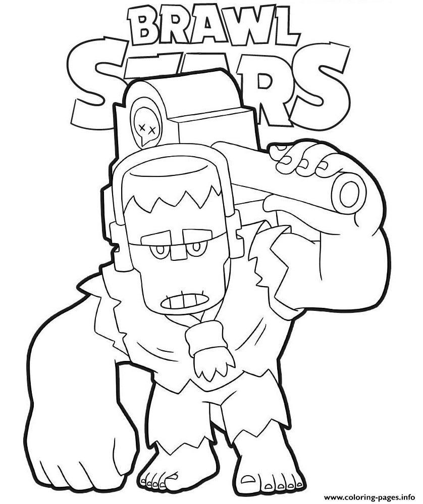 Brawl Stars Frank Coloring Pages Printable