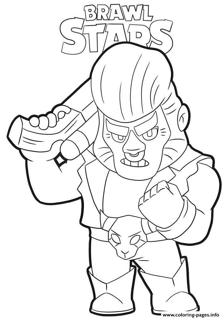 Brawl Stars Bull Coloring Pages Printable