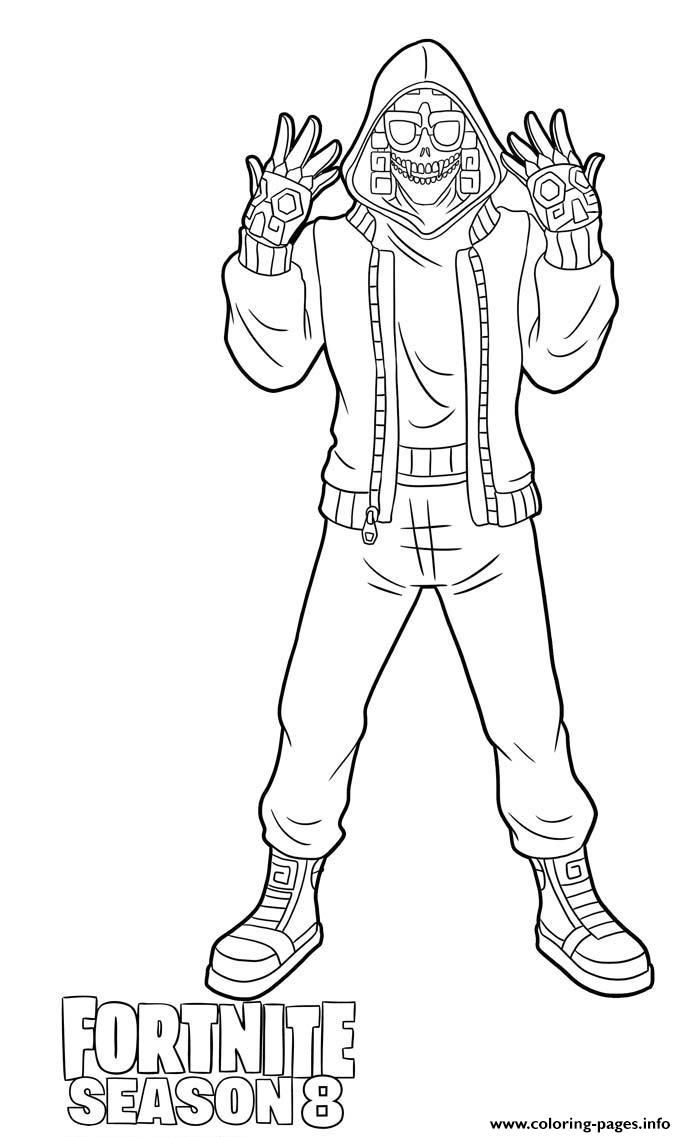 Mezmer From Fortnite Season 8 Coloring Pages Printable